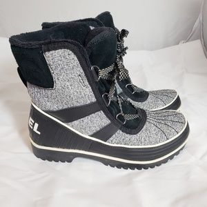Gray and Black Sorel Winter Boots